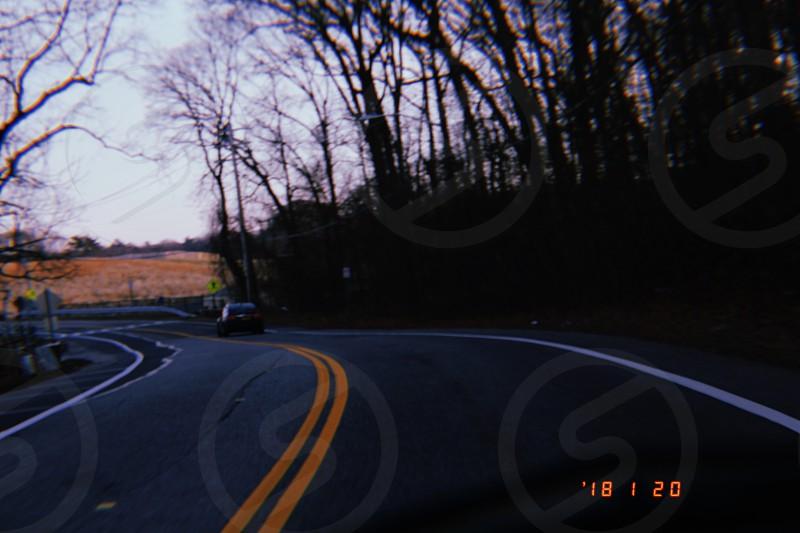 road vintage travel driving photo