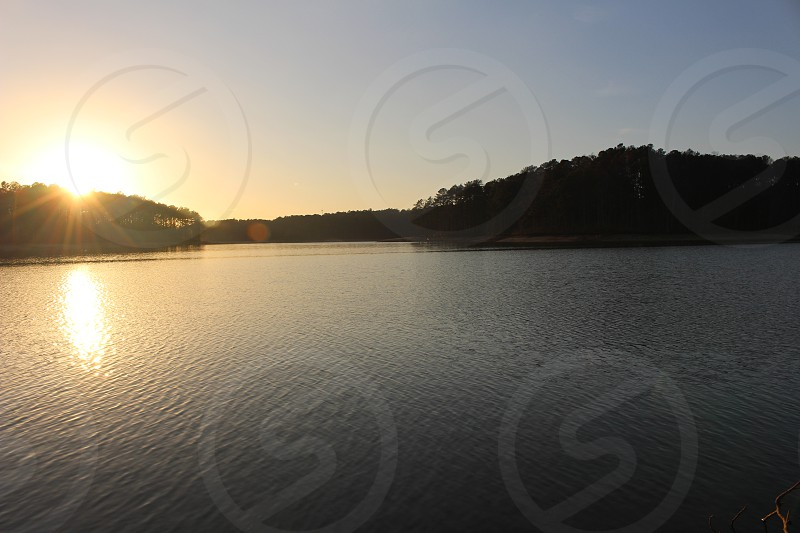 peaceful and serene sunset in winder georgia photo