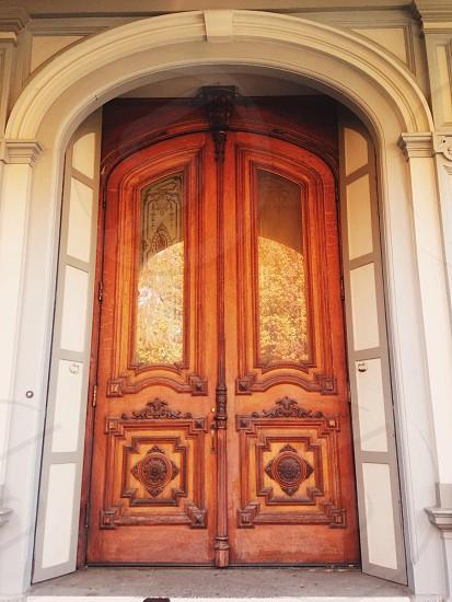 Door to the Crocker Art Museum in Sacramento CA  photo