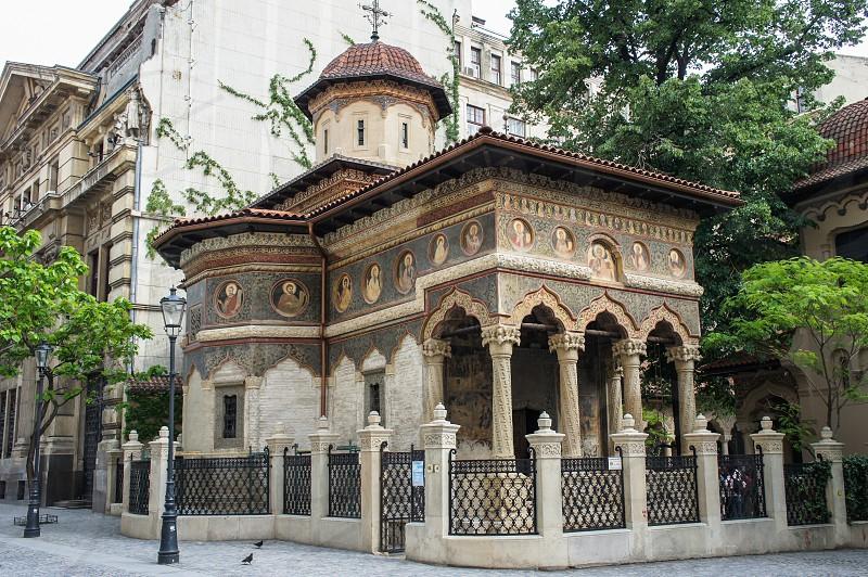 Stavropoleos Monastery in Bucharest Romania photo