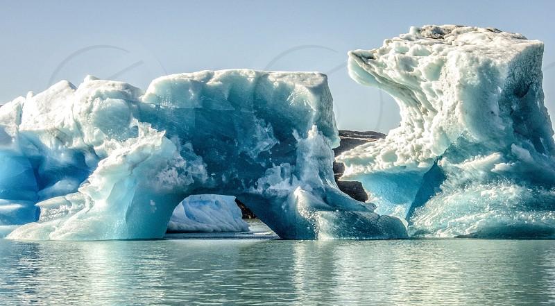 Iceberg detached from the Perito Moreno glacier. photo