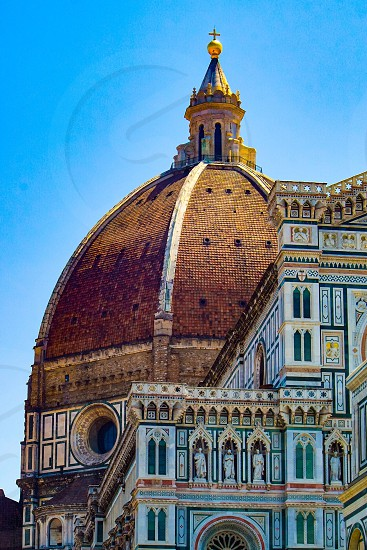 Front architectural elements of Florence duomo Tuscany Italy  photo