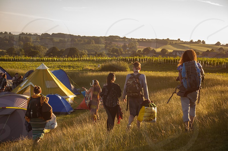 Summer music festivals in England. photo
