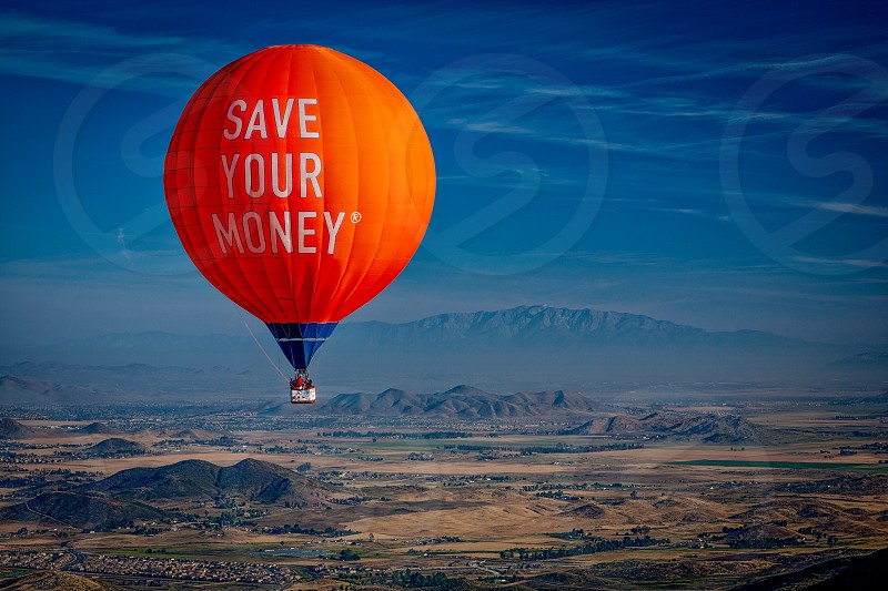 Hot Air Balloon over the Temecula Valley photo