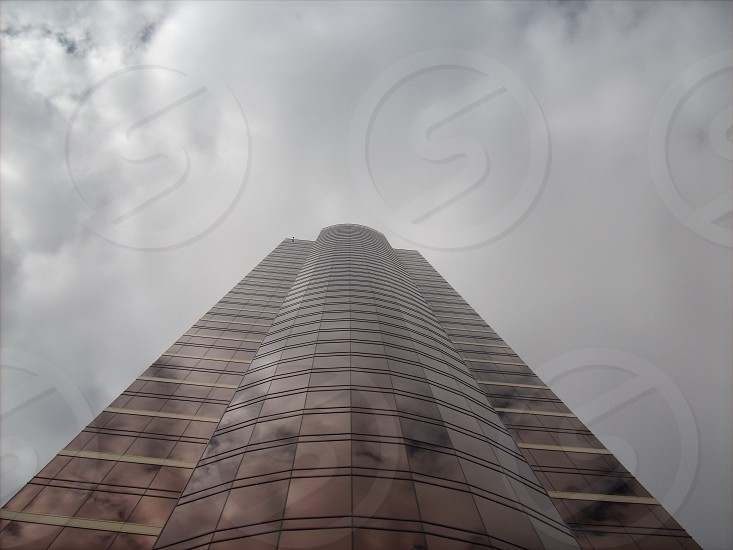 brown glass building low angle photography photo