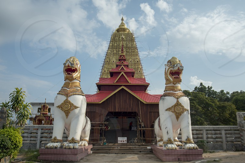 the Wat Wang Wiwekaram in the Village of Sangkhlaburi north of the City of Kanchanaburi in Central Thailand in Southeastasia.   photo