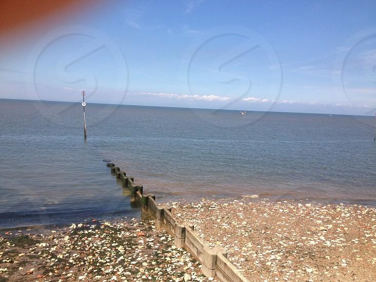Low tide in sunny West Mersea.  photo