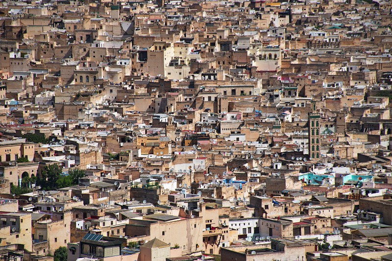Scenic view of Fes in Morocco photo