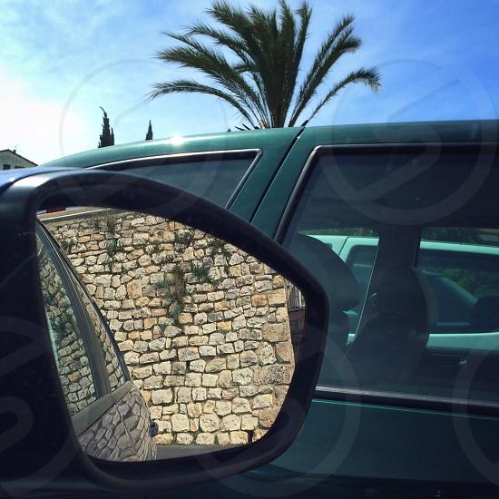 black side mirror photo