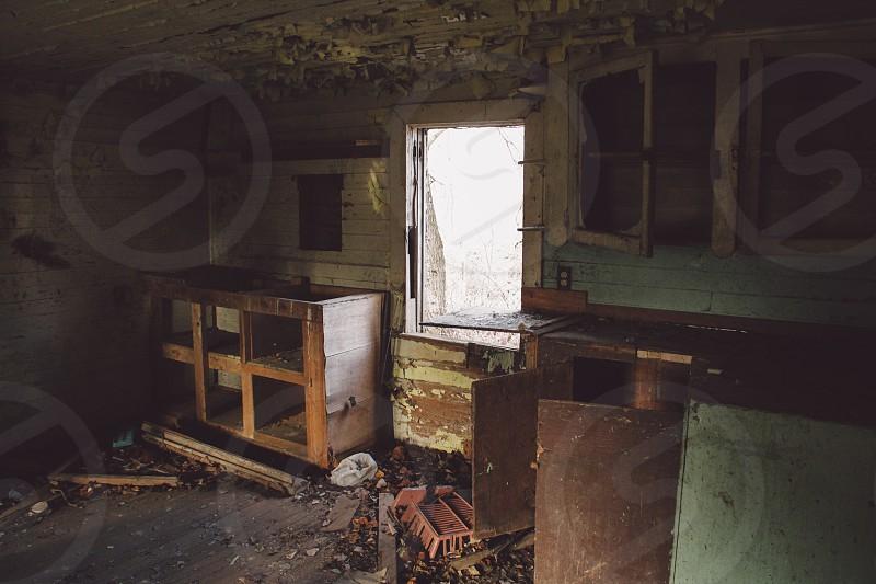 white wooden window frame photo