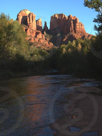 Cathedral Rock at Sunset Sedona Arizona USA photo