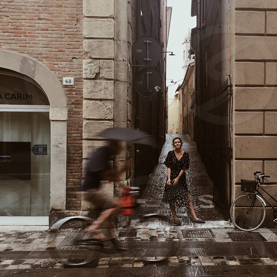 A photo made in Italy charming moment a fascinating second looks like a movie  photo