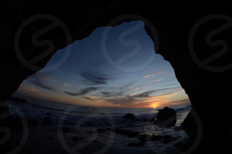 California Coast Sunset photo