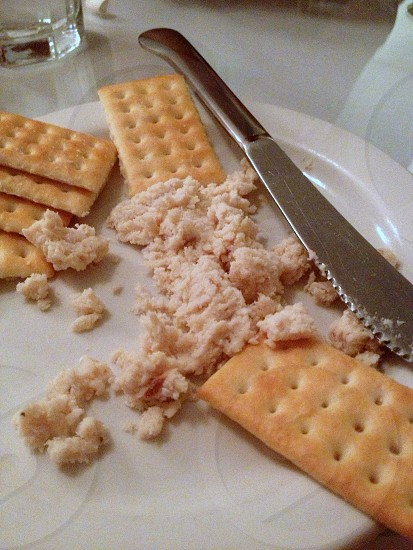 Trout pate with crackers photo