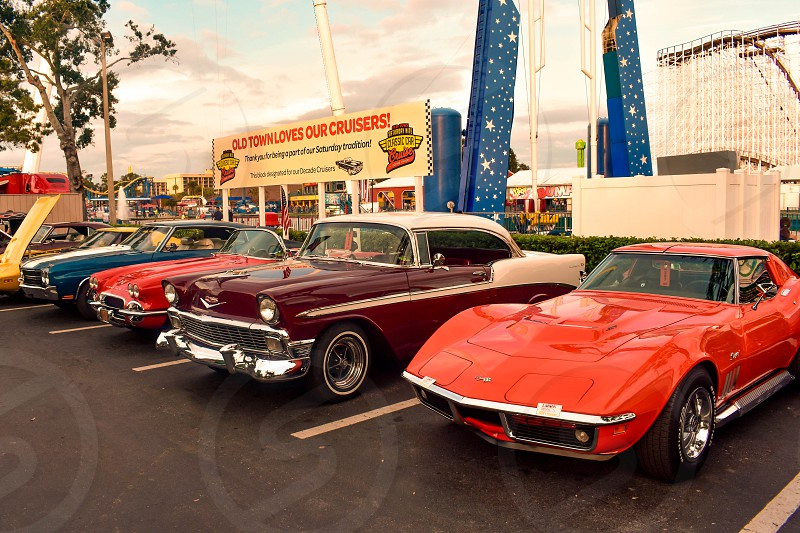 Orlando Florida. December 28 2018. Saturday Nite Classic Car Show and Cruise is a weekend tradition in Old Town Kissimmee. at  Kissimmee Old Town in 192 Highway area (2) photo