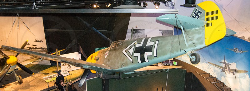 A restored spitfire on display at the Museum of Flight in Seattle Washington   photo