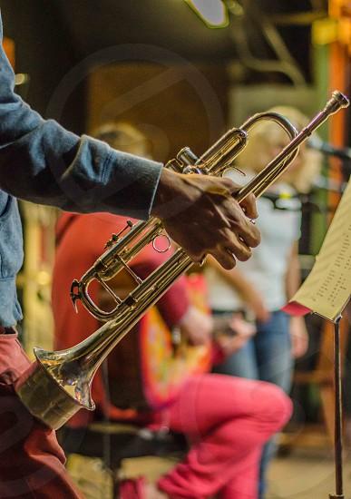 Music trumpet musical instrument hand photo