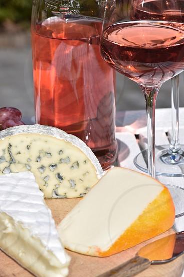 Cheese and wine photo