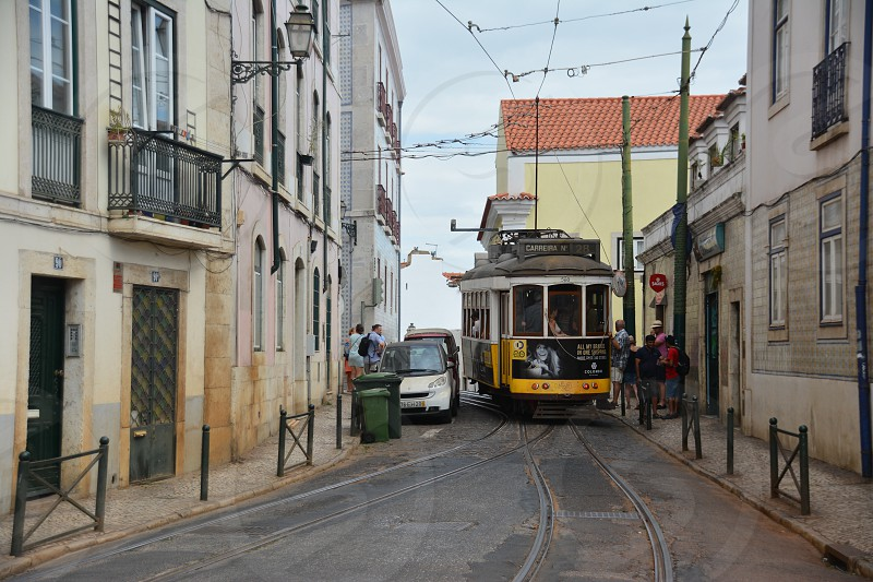 Tram rails photo