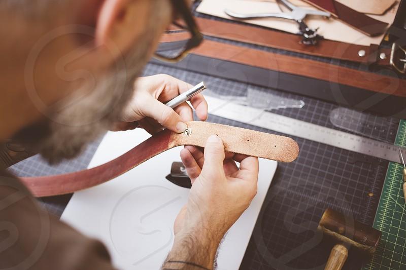 Leather work photo