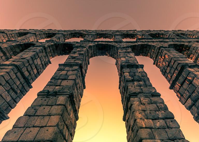 The aqueduct of Segovia (Spain) photo