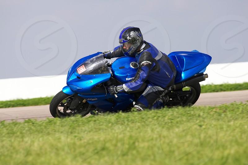Sport bike on Track photo