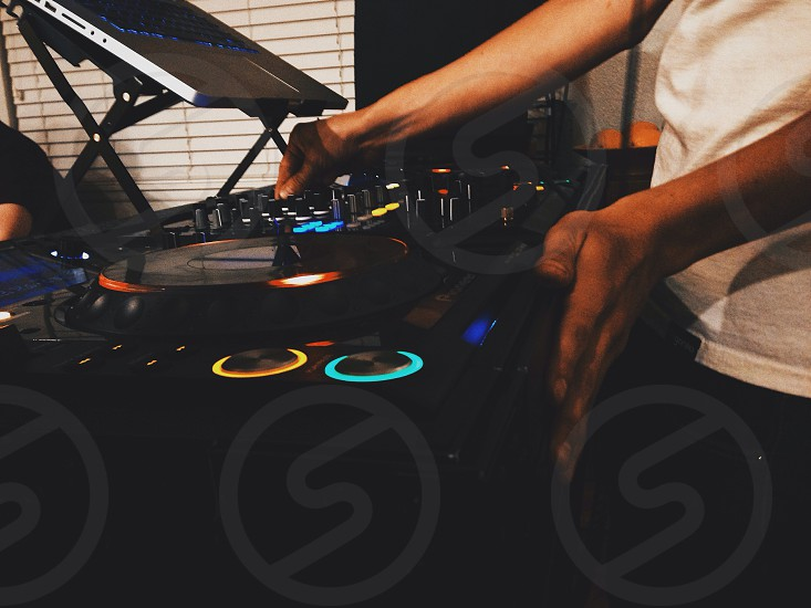 DJING.  photo