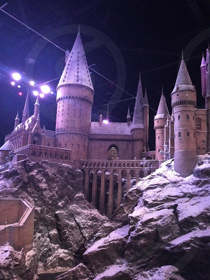 Hogwarts castle covered in snow! photo