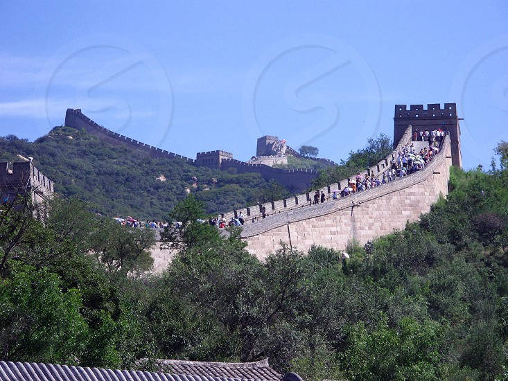 Point of the Great Wall in China: Badaling. photo