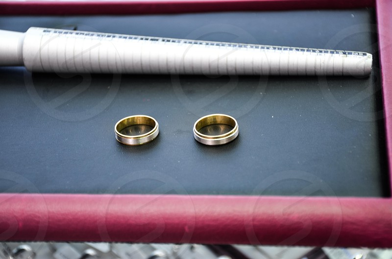Rings for wedding photo