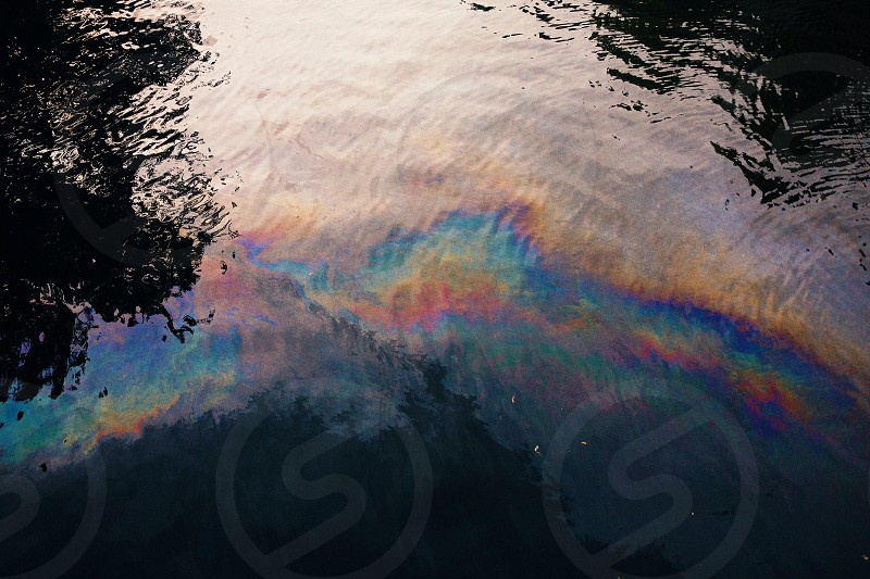 Some Rainbow water in Amsterdam canals.. photo