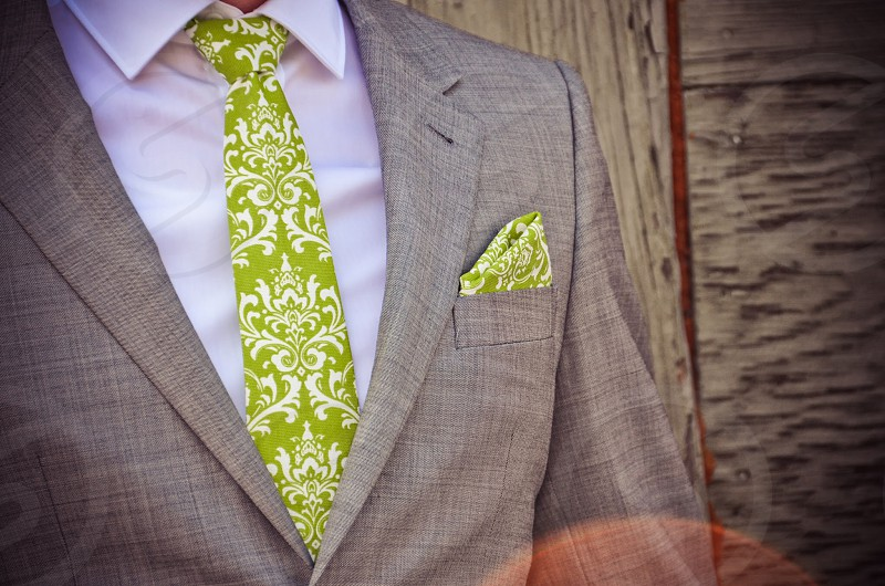 Unique Tie Scroll Green Lime Artsy Hipster Suit Best Dressed Man Gentleman photo