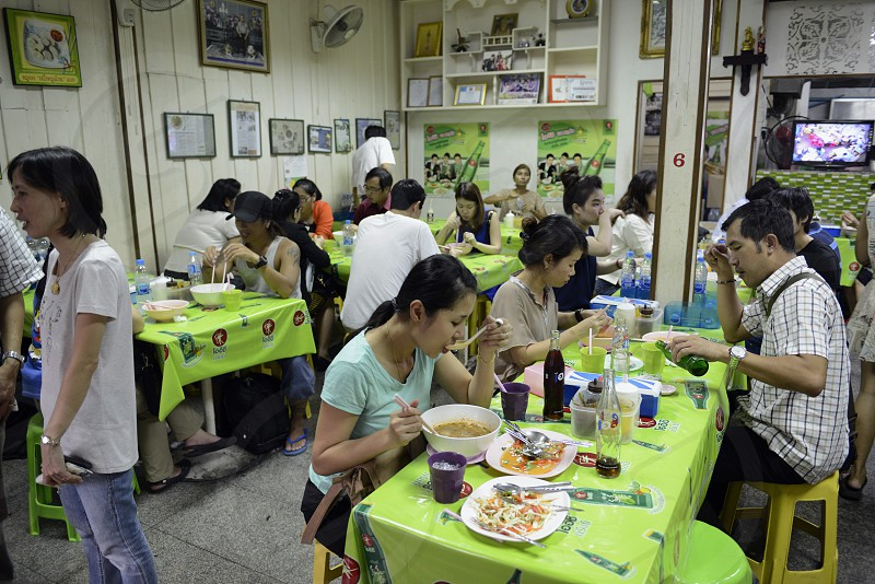 a thai food restaurant in Banglamphu in the city of Bangkok in Thailand in Suedostasien. photo