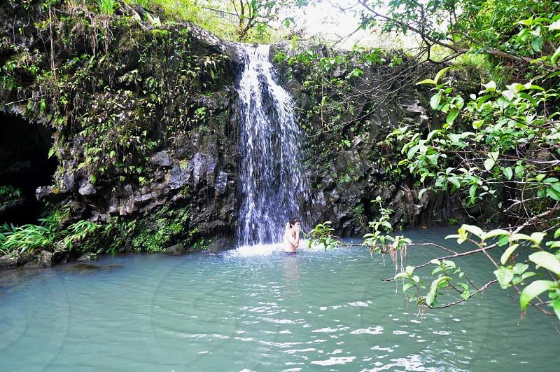 Waterfall Hawaii  photo