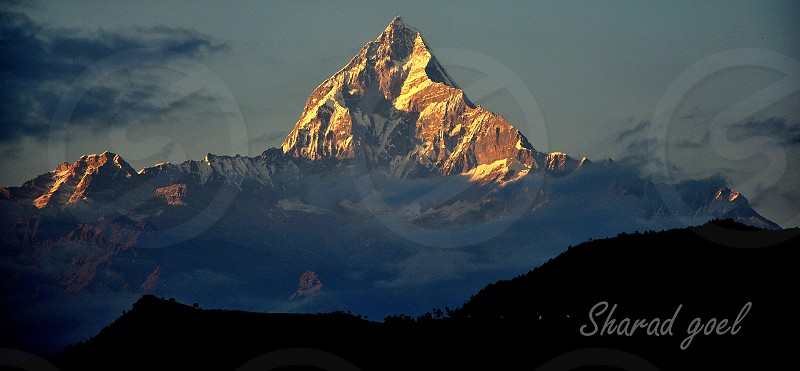 the majestic MACHHAPUCHCHHRE (fishtail in nepalese language) photo