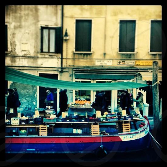 Floating market Venice Italy  photo