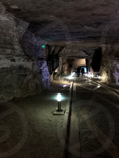 Mine or cave the walls of which is therapeutic salt. Azerbaijan. photo