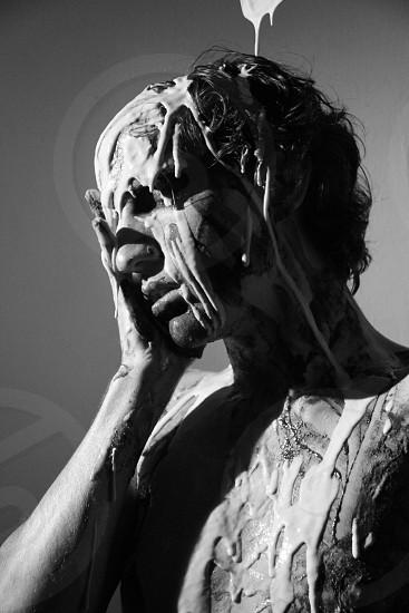 Man face paint portrait art photo