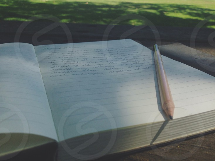 I love to write and just express everything and anything on paper. photo