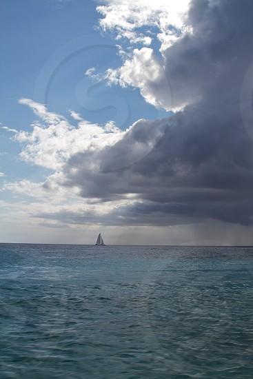 Sailing Into a Storm Carribean photo