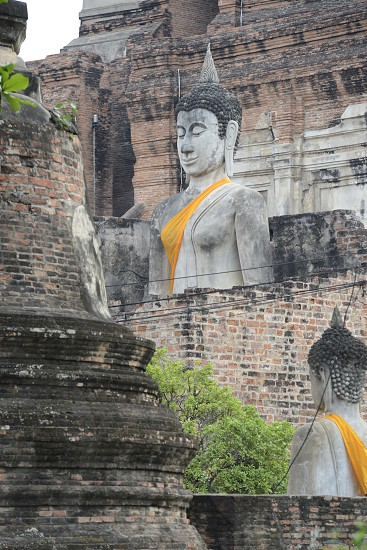 The Wat Yai Chai Mongkol Temple in City of Ayutthaya in the north of Bangkok in Thailand Southeastasia. photo