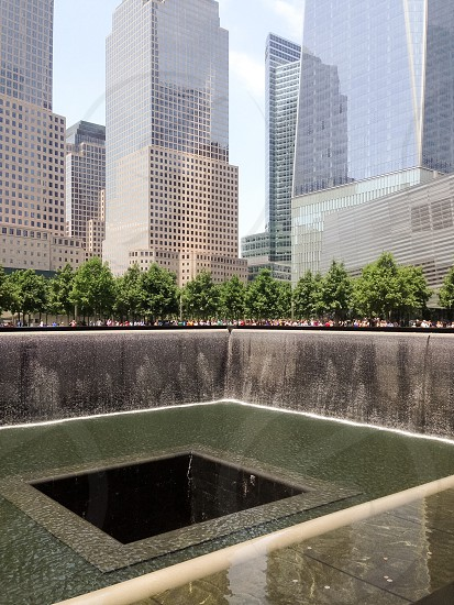 Reflection pools at 9/11 Memorial photo