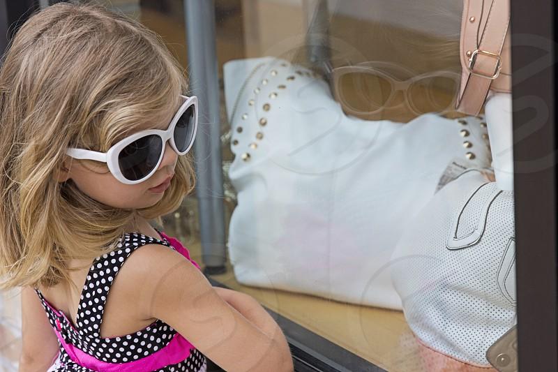 girl wearing white frame sunglasses fashion photography photo