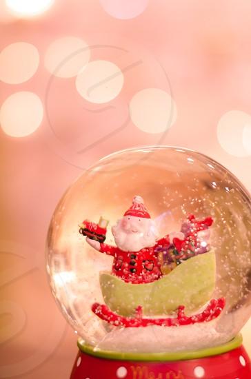 Christmas detox santa father Christmas sleigh snow globe snow pretty magical xmas musical photo