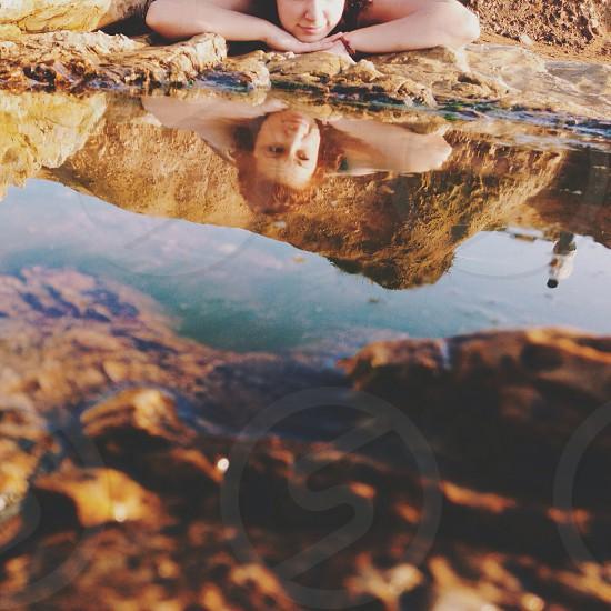 woman reflection  photo