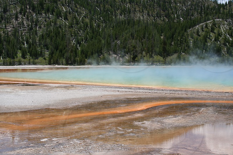 Grand Prismatic Spring Yellowstone National Park photo