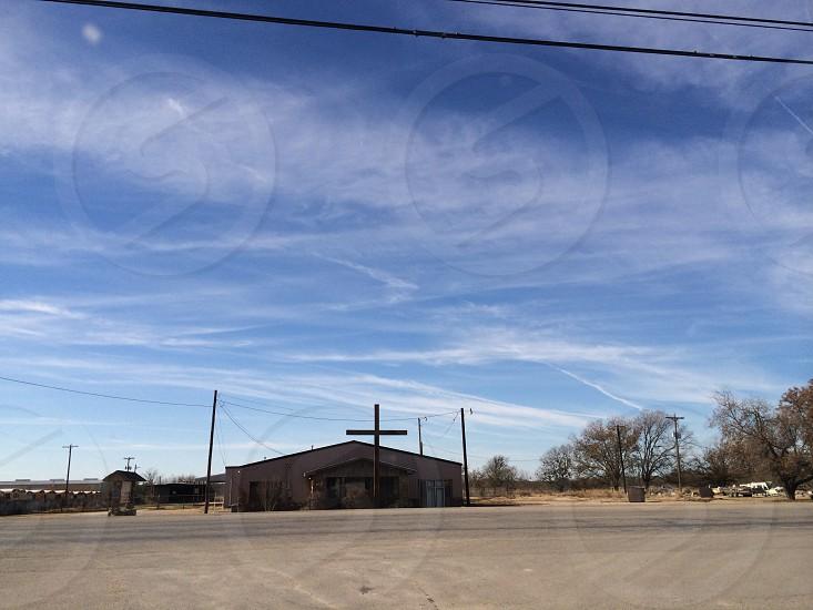 Random church in Brady Texas  photo