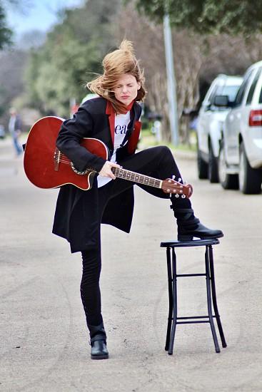Concert street festival celebration guitarist  photo