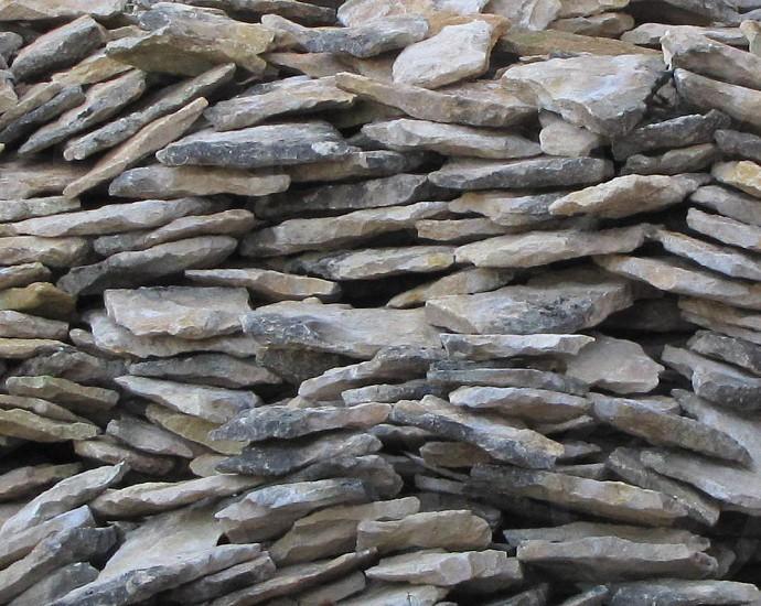Stacked rock shingles photo