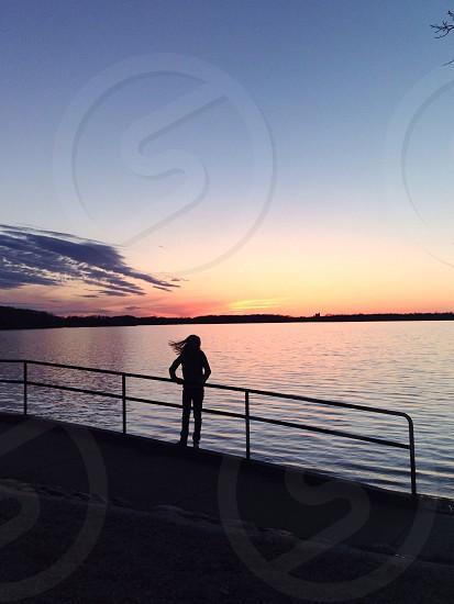 woman on seashore photo